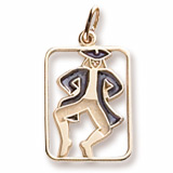 Gold Plated The 12 Days of Christmas Day 10 by Rembrandt Charms