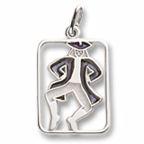 14K White Gold The 12 Days of Christmas Day 10 by Rembrandt Charms