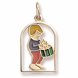 Gold Plated The 12 Days of Christmas Day 12 by Rembrandt Charms