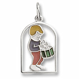 14K White Gold The 12 Days of Christmas Day 12 by Rembrandt Charms