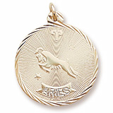 10K Gold Aries Constellation Charm by Rembrandt Charms