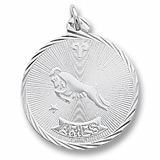 Sterling Silver Aries Constellation Charm by Rembrandt Charms