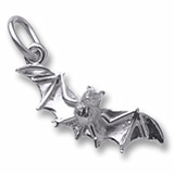 Sterling Silver Bat Charm by Rembrandt Charms