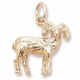 14k Gold Big Horn Sheep Charm by Rembrandt Charms