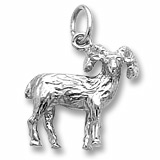 14k White Gold Big Horn Sheep Charm by Rembrandt Charms