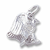 14K White Gold Eagle Accent Charm by Rembrandt Charms