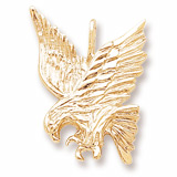 14K Gold Eagle Pendant Charm by Rembrandt Charms