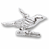 14K White Gold Oriole Bird Charm by Rembrandt Charms