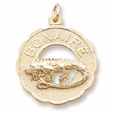 Gold Plated Bonaire, Iguana Charm by Rembrandt Charms