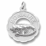 Sterling Silver Bonaire, Iguana Charm by Rembrandt Charms