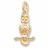 14K Gold Long Eared Owl Charm by Rembrandt Charms