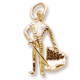 Gold Plate Bull Fighter Charm by Rembrandt Charms