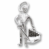 14K White Gold Bull Fighter Charm by Rembrandt Charms