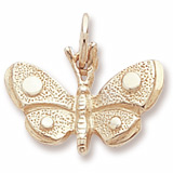 10K Gold Spotted Wings Butterfly Charm by Rembrandt Charms