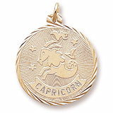 Gold Plate Capricorn Constellation Charm by Rembrandt Charms