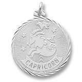 14K White Gold Capricorn Constellation Charm by Rembrandt Charms