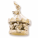 Gold Plate Carousel Charm by Rembrandt Charms