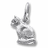 Sterling Silver Sitting Cat Accent Charm by Rembrandt Charms