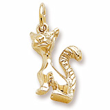 Gold Plate Cat Charm by Rembrandt Charms
