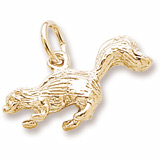 Gold Plate Skunk Charm by Rembrandt Charms