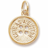 10K Gold Cute as a Button Charm by Rembrandt Charms