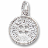 Sterling Silver Cute as a Button Charm by Rembrandt Charms