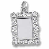Sterling Silver Scroll Pitcher Frame Charm by Rembrandt Charms