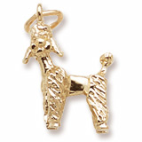 Gold Plated Poodle Dog Charm by Rembrandt Charms