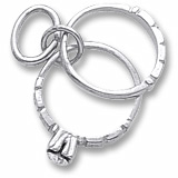 14K White Gold Wedding Rings Charm by Rembrandt Charms