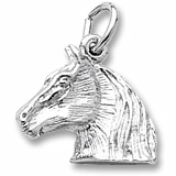 14K White Gold Horse Head Charm by Rembrandt Charms