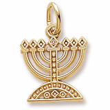 Gold Plate Menorah Charm by Rembrandt Charms