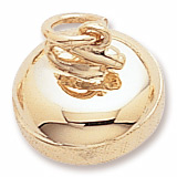 14K Gold Curling Stone Charm by Rembrandt Charms
