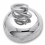 Sterling Silver Curling Stone Charm by Rembrandt Charms