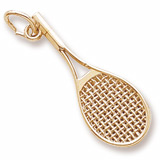 14K Gold Mid-Size Tennis Racquet Charm by Rembrandt Charms