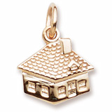 10K Gold House Accent Charm by Rembrandt Charms