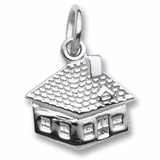 Sterling Silver House Accent Charm by Rembrandt Charms