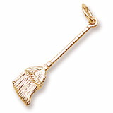 14K Gold Broom Charm by Rembrandt Charms