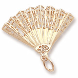 Gold Plate Hand Fan Charm by Rembrandt Charms