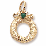 10K Gold Wreath with Bead Charm by Rembrandt Charms