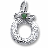 14K White Gold Wreath with Bead Charm by Rembrandt Charms
