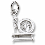 Sterling Silver Spinning Wheel Charm by Rembrandt Charms