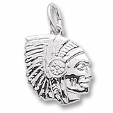 14K White Gold Native American Charm by Rembrandt Charms