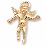 14K Gold Cherub Angel Charm by Rembrandt Charms