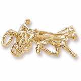 14k Gold Horse Trotter Charm by Rembrandt Charms