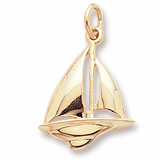 14K Gold Sloop Sailboat Charm by Rembrandt Charms