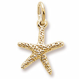 Gold Plate Starfish Accent Charm by Rembrandt Charms
