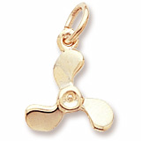 Gold Plate Propeller Charm by Rembrandt Charms