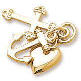 14K Gold Faith, Hope, and Charity Charm by Rembrandt Charms