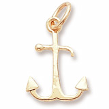 Gold Plate Anchor Accent Charm by Rembrandt Charms