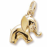 Gold Plate Baby Elephant Charm by Rembrandt Charms